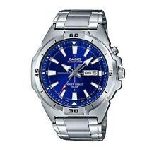 NEWEST Casio MTP-E203D-2A Men's SS Watch SUPER ILLUMINATOR Day + Date 50M BLUE