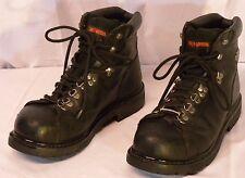 HARLEY DAVIDSON Men's Black Leather Boots Sz 11 US 44 EUR Steel Toe Over Ankle