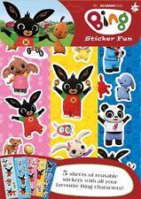 Bing Sticker Fun Bambini Attività Adesivo Libro da colorare Ragazzi 3 anni