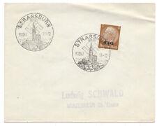 More details for germany envelope strassburg nazi swastika postmark 1941 - 2 strikes