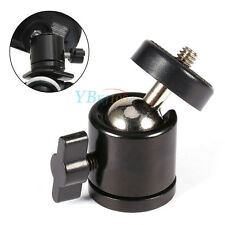 "Mini Ball Head Bracket Mount For 1/4"" Camera Tripod  & 3/8"" Thread Flash Holder"