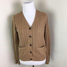 J.Crew Women's Cambridge Cable Wool Blend Cardigan Sweater size xs tan brown Q3