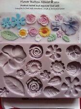 Karen Davies Flower Button Sugarcraft Mould cupcakes NEXT DAY DESPATCH