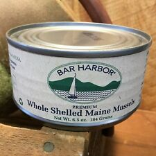 BAR HARBOR 6.5 oz Can of WHOLE Shelled MAINE MUSSELS Canned Seafood