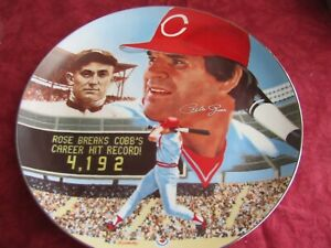 "PETE ROSE ""PETE ROSE PLATINUM EDITION"" SIGNED PLATE #529 OF 4129 PLATES"