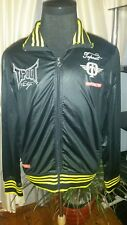 "RARE! NWT TAPOUT VINTAGE Zipper JACKET ""CITY OF IRON"" Embroidered Black Large"