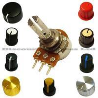 Single Mono1M ohm lin Linear Log Logarithmic Switch Pot Potentiometer And Knob