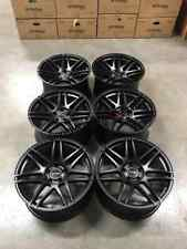 "19"" Strom STR3 F14 Alloy Wheels Satin Black BMW E90 E91 E92 E93 DEEP CONCAVE"