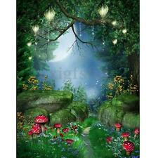 5x7ft Fairy Tale World Green Forest Photography Background Backdrop Photo Props