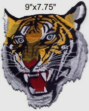 "Large Tiger Head Embroidered Patch 9""x7.75"""