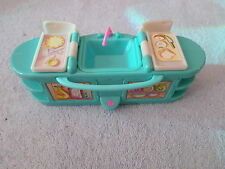 Doll Furniture - Counter / Stove / Sink - Colorful Plastic