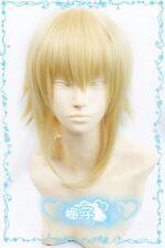 Hot! BLAZBLUE Jin=Kisaragi Short Blond mix Cosplay Wig Free Shipping w##