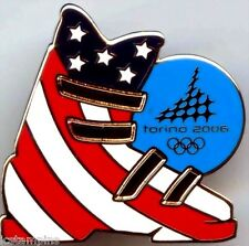 "2006 Torino Olympic ""PATRIOTIC USA SKI BOOT"" Pin"