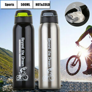 New Sports Travel Mugs Large Cycling Cup Bottle with Straw SippySuctio Lid 500ml