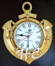 Brass Ship Anchor Hamburg Germany Roman Numeral Wall Clock Nautical Beach Decor