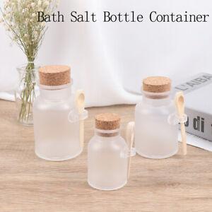 Plastic Empty Bath Salt Bottle Cream Cosmetic Jar Cork Jar Container Cork Spoon)