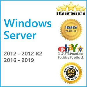 {CODE} 1 PC WIN SERVER 2019 2016 2012 R2, OS SYSTEMS, STANDARD AND DATACENTER