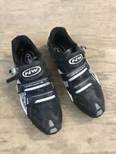 NORTHWAVE Carbon Aerlite Black Road Bike Cycling Shoes Size 47 US 14