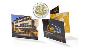 Coffret BU Euros Luxembourg 2021 - 8 pièces + 2€ Commémorative MARIAGE Poincon