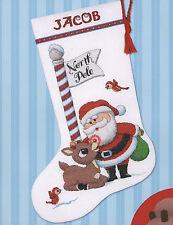 Cross Stitch Kit ~ Dimensions Santa Claus & Rudolph Christmas Stocking #70-08959