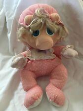 "Muppet Babies Miss Piggy Plush Doll Jim Henson 1985 Hasbro Softies 11"" Stuffed"