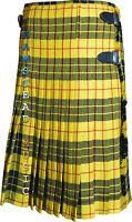 Scottish McLeod of Lewis Tartan Pleated to Stripes Highland Traditional New Kilt