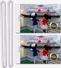 2x Disney Cruise Dream Line Luggage Baggage Suitcase Travel Trip ID Label Tags