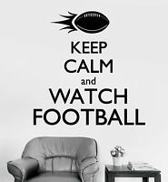 Vinyl Wall Decal Keep Calm And Watch American Football Sport Stickers (1076ig)