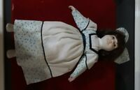 """Vintage Porcelain Doll With Cloth Body Hand Painted 15"""""""