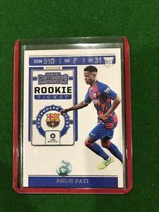 2019-20 Panini Chronicles Soccer ANSU FATI Rookie Ticket - READ!!