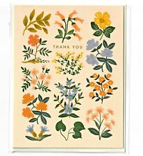 RIFLE PAPER CO. Greeting Card & Envelope - WILDWOOD Thank You (Floral Gold Foil)