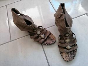 Bonita Schuhe Gr. 41 braun Pumps Neuwertig Sommer offen bequem modern Sandalen
