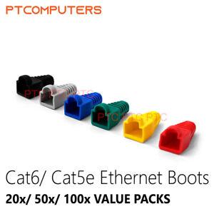 Multi Color Ethernet RJ45 Cable Connectors and Boots Plug Cover 20 50 100 Pcs