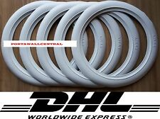 Original Atlas 14'' White Wall Tyre Insert Trim Port-a-wall - Set of 5.