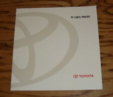 Original 1991 Toyota Car & Truck Full Line Sales Brochure 91 Supra MR2 4Runner