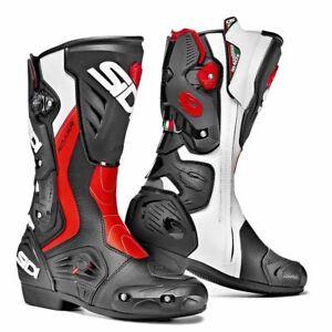 SIDI ROARR Black/Flo Red Sports Motorbike Boots Vertebra System Techno 3