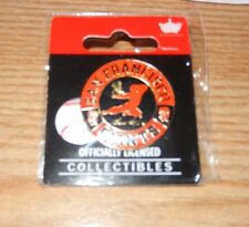BRUCE LEE 2012 SF GIANTS ORANGE & BLACK KUNG FU CIRCLE PIN SGA AMINCO NEW