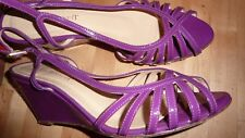 LK BENNETT UK 6 39 Wedges PURPLE Violet Patent Leather Sandals Shoes NEW FAB!!!!