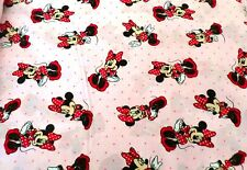 Minnie Mouse fabric PINK MINNIE DOT DRESS TOSS CP33761 by the yard Pink  NEW