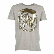 Diesel T-Mohican Mens cotton T-shirt - Grey / Gold