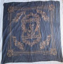 -Superbe châle ARMANI JEANS 100% soie TBEG  vintage scarf 135 x 135 cm