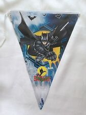 Paper Children Kids Boys Birthday Party Bunting Flag Banners Decoration Bat Man