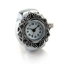 "Tibetan Silver Flower Men Lady Finger Ring Watch 0.87"" HOT P6V1"