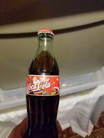 FULL 2001 CHRISTMAS SANTA Coke Bottle Coca-Cola 8OZ GLASS NEW WINTER HOLIDAY