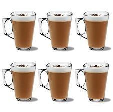 confezione da 6 LATTE bicchieri caffè tè cappuccino VETRO 240ml Tazze