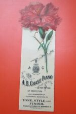 CELLULOID A.B.CHASE PIANO NORWALK  OHIO - FANCY