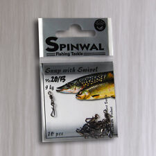 Spinwal 20B snap with swivel. (9KG) 10 PCS. lure,vertical,jig head fishing