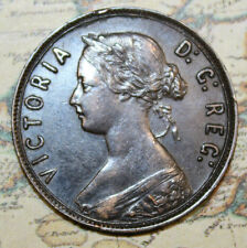 1894 NEWFOUNDLAND CANADA SILVER LARGE CENT COIN - LOT NF1415 - NICE GRADE