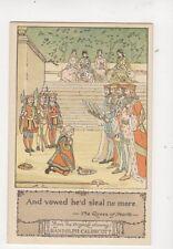Randolph Caldecott The Queen Of Hearts Vintage Art Postcard 181b