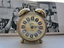 Vintage Trenkle West Germany Alarm Clock Wind Up Filigree Sides Ornate works